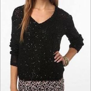 Silence + Noise Sequined Top Urban Outfitters VGUC